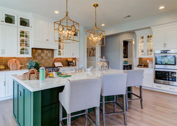Kitchen in a new Tiburon home from Bentley Homes.