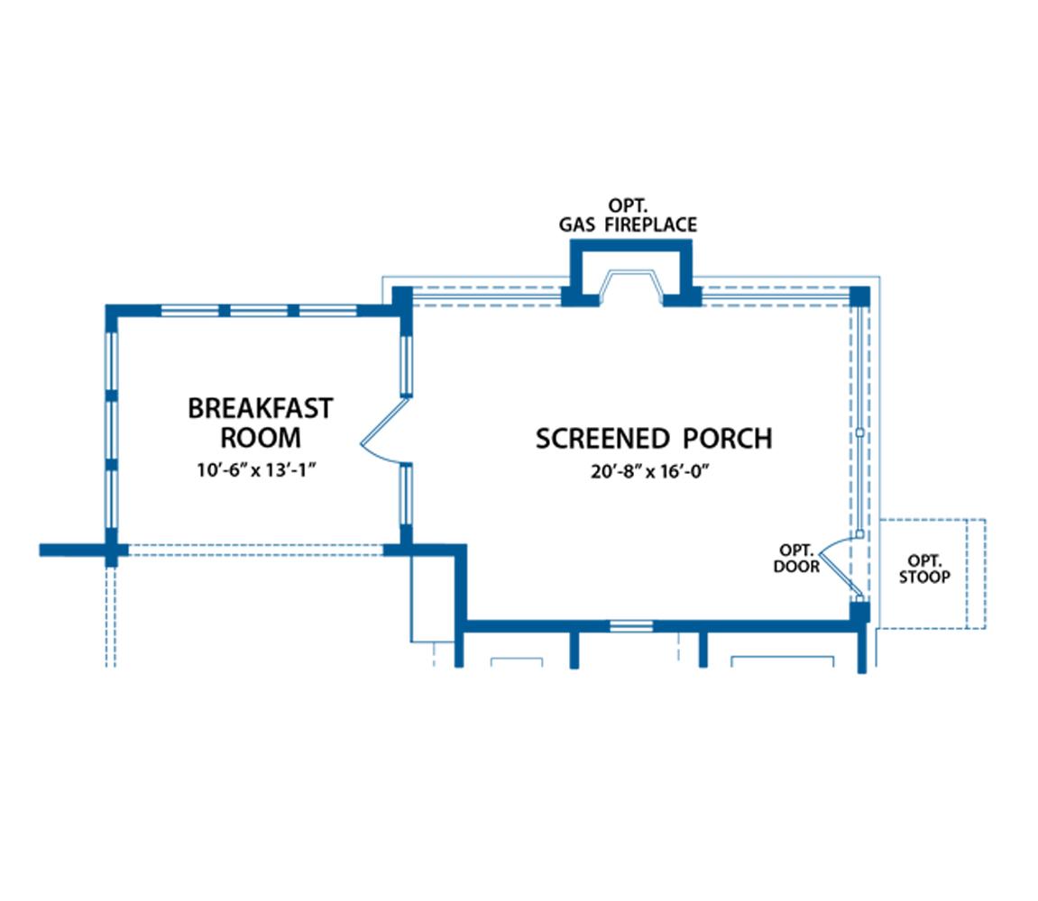 Chandler porch floor plan.