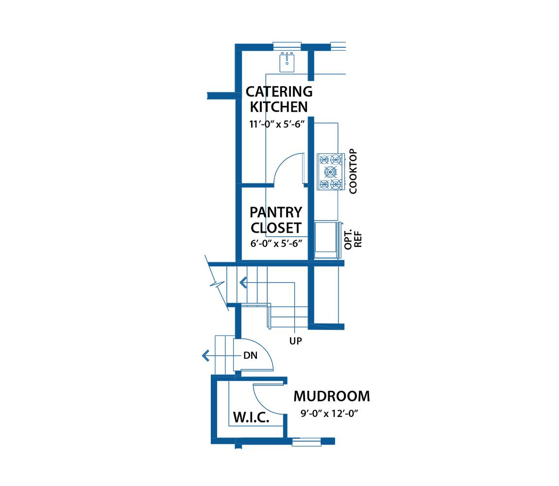 Denbigh kitchen floor plan.