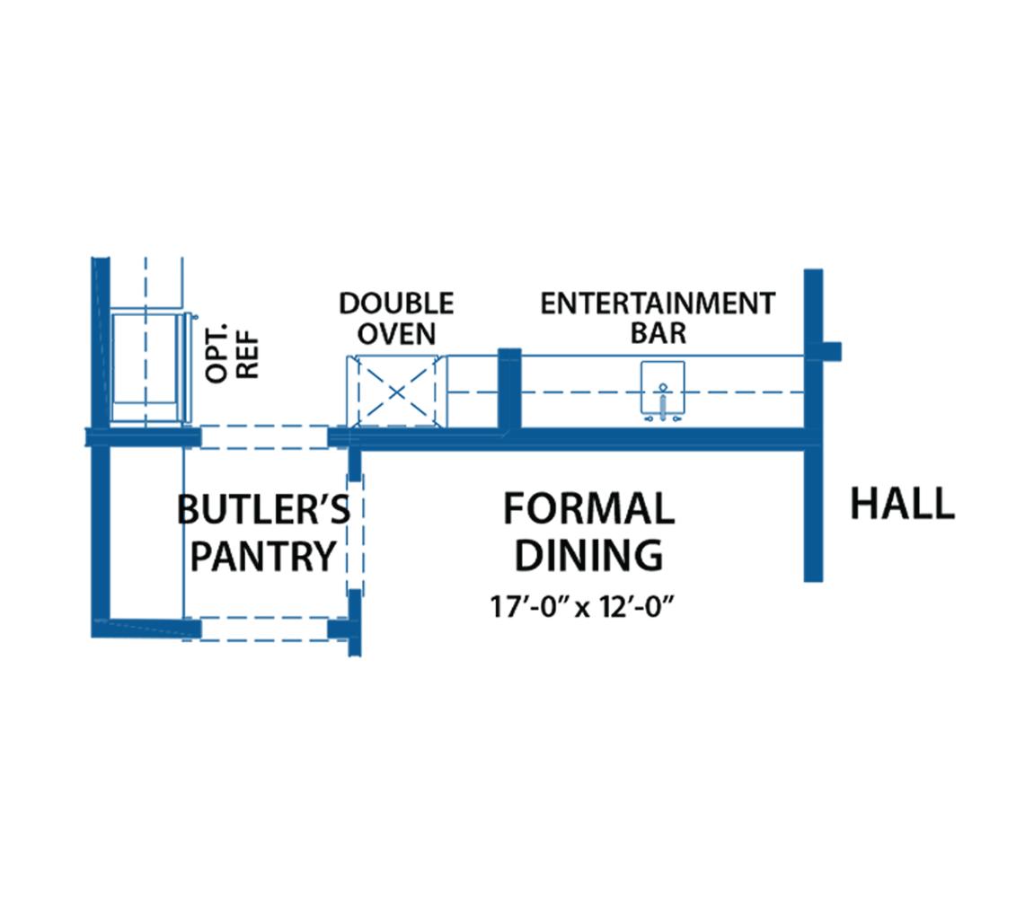 Denbigh dining hall floor plan.