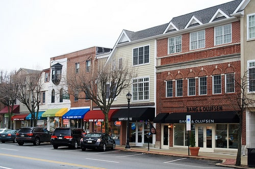 Image of the main street in Wayne, PA - location of our new construction homes.