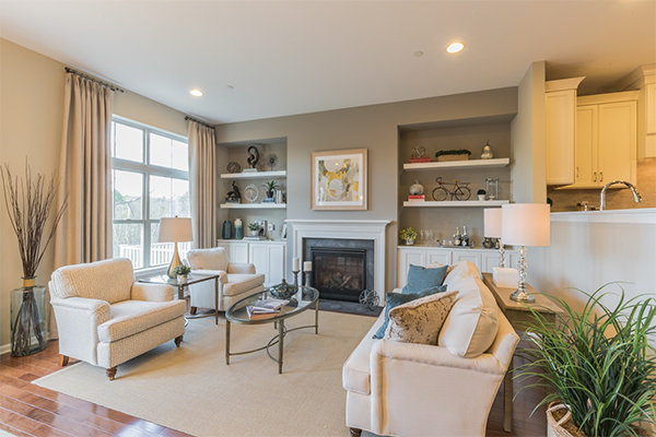 Image of the the Living Room in a townhome at Walnut Walk