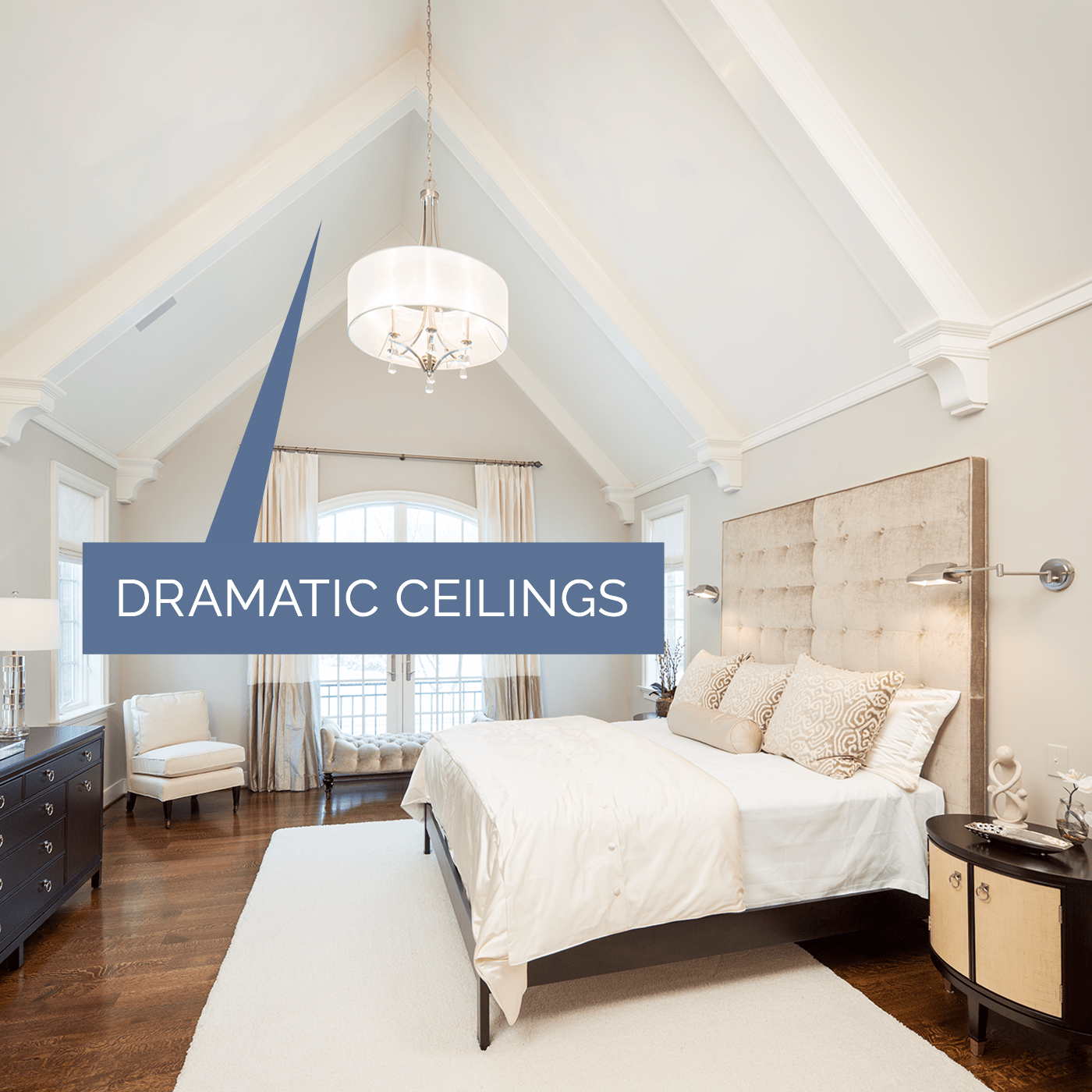 Image of a custom dramatic ceiling