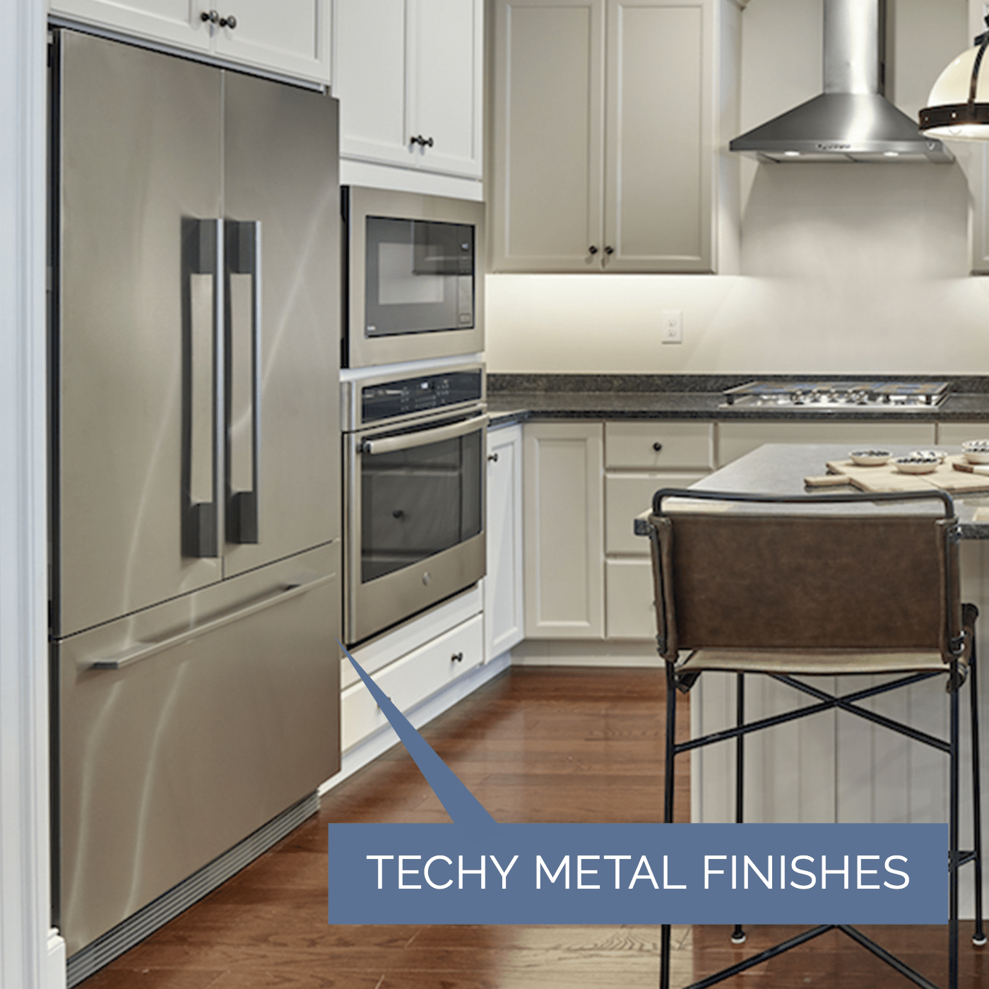 Image of appliances with techy metal finishes